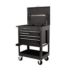 30 In 5 Drawer Black Mechanics Cart Tools