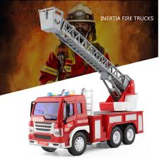 100 Fire Trucks Toys 116 Car Engine With Sound And Light For Kids