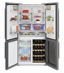 side by side kühlschrank mit integriertem weinkühler