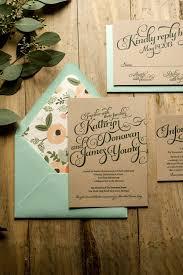 Australian Rustic Wedding Invitations Invitation Mint U Kraft Letterpress Within Invites