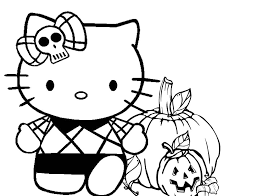 Related Coloring Pages Emmas Trend Fashion And Style Hello Kitty Halloween Printable