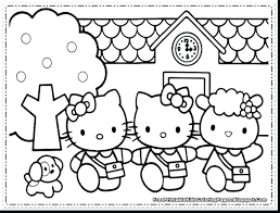 Hello Kitty Coloring Pictures Girls Pages Friends Valentine Free Cat Full Size