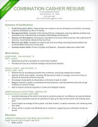 Resume Cashier Duties Responsibilities Example For Chief Samples