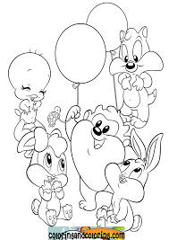 Free Baby Looney Tunes Coloring Pages Letscoloringpages Cute Picture With