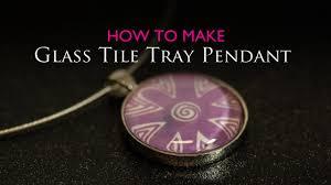 how to make glass tile tray circle pendant
