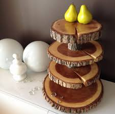 Rustic Wedding Cake Stand Fresh 4 Tier Cupcake Stands Wood Rounds Tree
