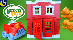 Green Toys Fire Station House And Fire Truck Playset Toys Made In ... Learn Colors For Children With Green Toys Fire Station Paw Patrol Truck Lil Tulips Floor Rug Gallery Images Of Ebeanstalk Child Development Video Youtube Toy Walmart Canada Trucks Teamsterz Sound Light Engine Tow Garbage Helicopter Kids Serve Pd Buy Maven Gifts With School Bus Play Set Little Earth Nest