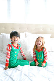 christmas elf pajamas for kids on a lazy sunday morning from target