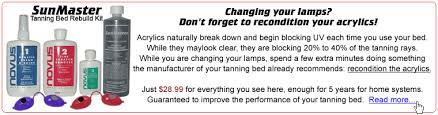 home tanning bed l replacement guide