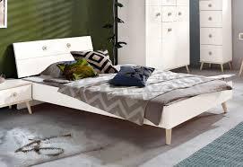 wimex bett bettgestell schlafzimmer billund weiß eiche sägerau 90x200cm