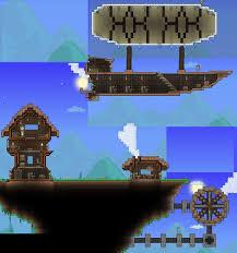 Terraria Steampunk Island by XploSlime7