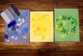 Kids Crafting 101 Color Collage Art Activity
