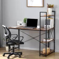 gotui schreibtisch schreibtisch computertisch pc tisch bürotisch officetisch arbeitstisch mit ablage für büro wohnzimmer kaufen otto