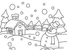 Winter Coloring Pages Free Pdf For Kindergarten