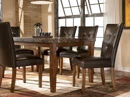 furniture rectangular pub table ashley dinette sets oak