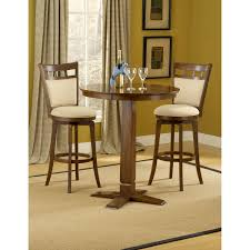 Hillsdale Furniture Dynamic Designs Brown Cherry Pub Table With Two  Jefferson Barstools