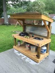 Outside Patio Bar Ideas by Weber Kettle Homemade Cart Table The Bbq Brethren Forums Cool