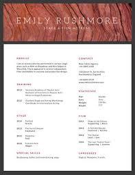 Minimalist Texture Acting Resume