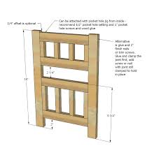 Free Instructions For Bunk Beds by Ana White Camp Style Bunk Beds For American Or 18 Dolls