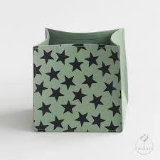 organizer cube sternen print schwarz auf graugrün
