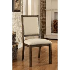 100 Dining Room Chairs With Oak Accents COLETTE Rustic And Beigedustrial Style Side ChairCM3562SC2PK