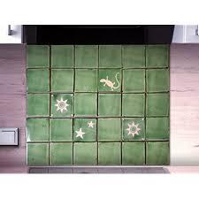 stilecht für ihre küche handgemachte fliesen original aus mexiko fliesenset classic of nature 30teilig grün weiss ca 65x54 cm kombinier