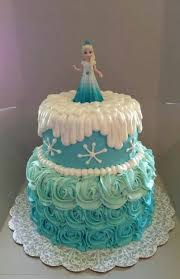 Easy Elsa cake use ice shards on top