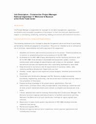 Construction Project Management Contract Template Awesome Resume Examples Inspirational Manager Cv