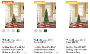Unlit Artificial Christmas Trees Walmart by Walmart Christmas Tree Clearance Items Under 20