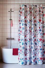 kratten duschvorhang weiß bunt 180x200 cm ikea