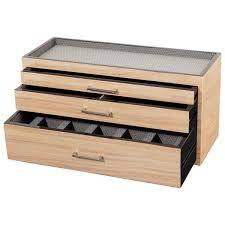 Dresser Valet Woodworking Plans by Wooden Modular 3 Drawer Dresser Valet U0026 Watch Storage Box 3 Colors