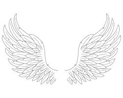 Lovely Angel Wings Coloring Pages 42 On Gallery Ideas With