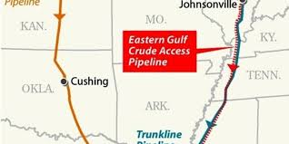 Map Little Known Pipeline Nearly As Big Keystone Could Win Race To Gulf