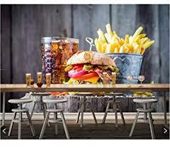 rureng fast food hamburger cola pommes frites essen tapete