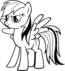 Coloring Pages Of My Little Pony Rainbow Dash Page