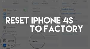 How To Reset Your iPhone 4S Back To Factory Settings