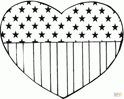 Coloring PagesStunning Heart Sheet Flag Day 11 Page Pages