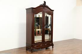 French 1910 Antique Mahogany Armoire Or Wardrobe, Beveled Mirror ... Fniture Fancy Wardrobe Armoire For Organizer Idea Antique Cherry Finish Jewelry Lingerie Chest By Coaster Armoire Pictures Abolishrmcom Stellar French Louis Philippe With Fitted Sold Country Provincial 1780 Or Vintage American Phillipe Style Mt Airy Henredon Signed Neoclassical 19th Century In Walnut And Burl Brown Armoires Highly Rated Wood Wooden Luxury