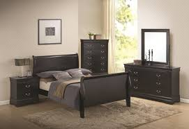 coaster louis philippe sleigh bedroom set in black 201071