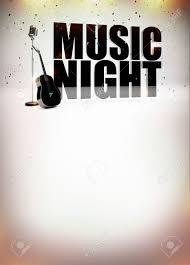 Karaoke Music Night Abstract Poster Background With Space Stock Photo