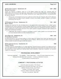 Resume In Spanish Example How To Write An Excellent Teacher With No