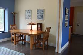 Image Of Dining Table With Bench Against Wall
