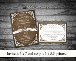 Rustic Wedding Invitation Printable Set Country Invite RSVP Vintage Barn Wood DIY Template For Weddings