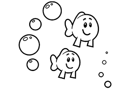 Bubble Guppies Coloring Pages Little Fish Clipart