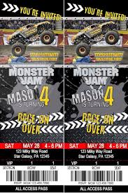 99 Monster Trucks Tickets Maximum Destruction Monster Jam Birthday Party Prints As A 4x6