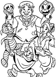 Halloween Coloring Pages Monsters Costumes