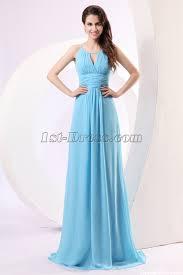 blue spaghetti straps chiffon military prom dress 1st dress com