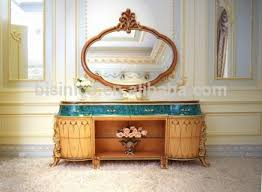 Latest Design Italy Dining Room Furniture Buffet Sideboard Cabinet With Mirror Antique Elegant Wooden Carved