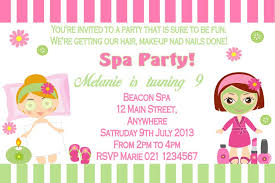 Pamper Party Invitations Theruntime Ideas