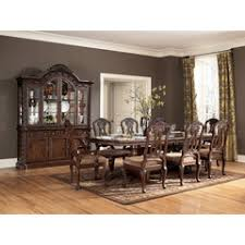North Shore Rectangular Double Pedestal Dining Table Set Ashley Collection